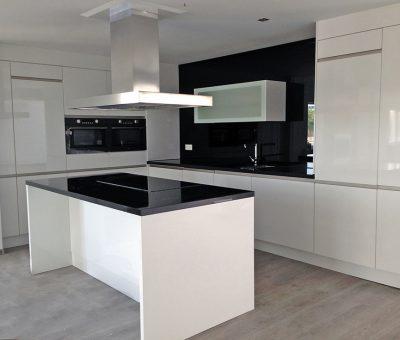 Keuken hoogglans wit